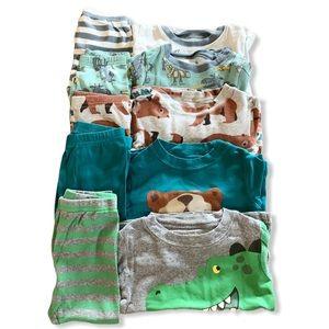 {Carter's} 5 pack pajama bundle- 12 months